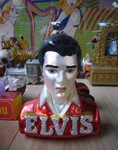 Elvis memorabilia in Peter Blake's studio, 2007