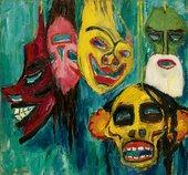 Emil Nolde Masks Still Life III 1911