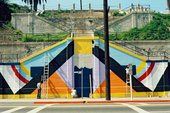 Facade for the Mechicano Art Center in Highland Park Los Angeles photographed by Oscar Castillo c.1976 -1978