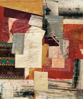 Kurt Schwitters, Untitled (Quality Street) 1942-1943, Collage, 25x20.8cm