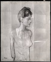 Short-wave infrared (SWIR) image (1500–1700nm) of Girl in a Chemise c.1905