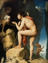 Jean-Auguste Dominique Ingres, Oedipus and the Sphinx 1808