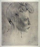 Pablo Picasso Head of a Woman in Profile 1905