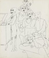 Edward Burra Jazz Fans 1928–9 TP19