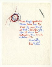Fig.1 Sue Fuller Handwritten letter to Lloyd Goodrich, 1961