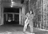 Gordon Matta-Clark installing Walls Paper at 112 Greene Street in 1972