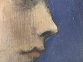 Detail of nose of Girl in a Chemise c.1905