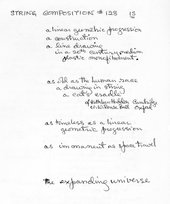 Fig.2 Sue Fuller Handwritten poem 'String Composition #128', 30