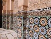 Sixteenth-century zellige tilework at the Ben Youssef Madrasa, Marrakech