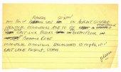 Dennis Oppenheim, Notes for Salt Flat caption, 1968
