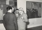 Agenzia D'Attualita Fotografia di Marzollo Hans Hofmann, Toshimitsu Imai, and others at the Venice Biennale 1960