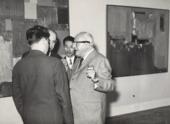 Agenzia D'Attualita Fotografia di Marzollo Hans Hofmann, Toshimitsu Imai, and others at the Venice Biennale 1960