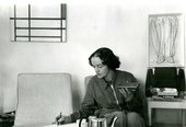 Photograph of Barbara Hepworth at home c.1957–8