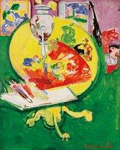Hans Hofmann, Still Life – Yellow Table on Green 1936