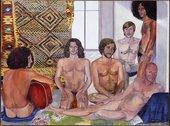 Sylvia Sleigh, The Turkish Bath 1973