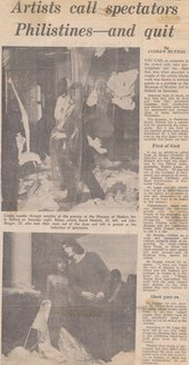 'Artists Call Spectators Philistines – And Quit', Oxford Mail, 15 February 1971