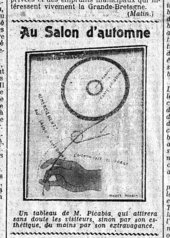 Hot Eyes 1921 illustrated on the front page of Le Matin, 1 November 1921