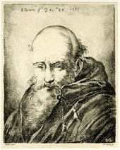 Fig.4 Benjamin Green after Benigno Bossi Head of a Monk 1771