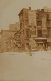 Sixth Avenue, East Side, North from West 25th Street. January 29, 1920, 1920