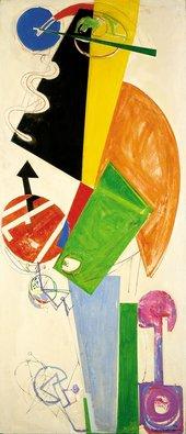 Hans Hofmann Chimbote, Mural Fragment of Part II 1950