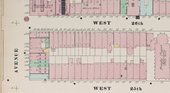 Sanborn Map Company, Detail from Atlas 42.54., vol.4, 1890: Manhattan, double page plate no.69