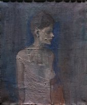 Girl in a Chemise c.1905 under raking light from top