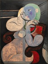 Nude Woman in a Red Armchair 1932 in transmitted light