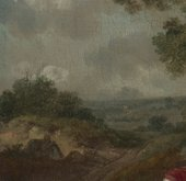 Thomas Gainsborough, Muilman, Crokatt and Keable in a Landscape, detail of the landscape