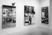 Installation view of Robert Rauschenberg works in '16 Americans', MoMA 16 December 1959 – 17 February 1960