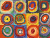 Wassily Kandinsky, Color Study: Squares with Concentric Circles 1913