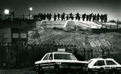 Raissa Page, Panorama of women protesters at the Greenham Common airbase, 1983