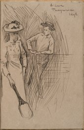 William Rothenstein A Lawn – Tennysonian Idyll c.1890