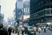 Kleenex billboard, Times Square, New York, 1959