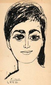 Pablo Picasso, Portrait of Djamila Boupacha 8–9 December 1961