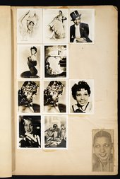 Photographs of Josephine Baker in Edward Burra's scrapbook c.1929–36