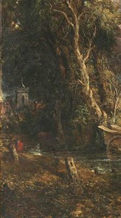 John Constable Salisbury Cathedral from the Meadows, detail