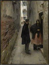 John Singer Sargent A Street in Venice 1880–2