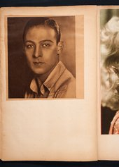 Photograph of the actor Rudolph Valentino in Edward Burra's scrapbook c.1929–36