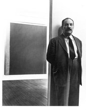 Hans Namuth, Barnett Newman with Adam at his exhibition at Betty Parsons Gallery, New York, 1951
