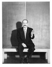 Hans Namuth, Barnett Newman in front of Be I at his exhibition at Betty Parsons Gallery, New York, 1950