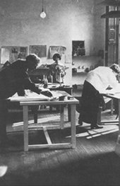 Artists at work in the Omega Workshops c.1913–19