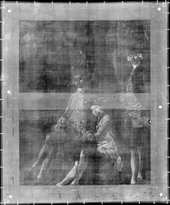 Thomas Gainsborough, Muilman, Crokatt and Keable in a Landscape, X-ray