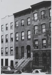 Exterior of Louise Nevelson's townhouse, 323 30th Street, New York City c.1956