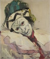 Franz Kline, Large Clown (Nijinsky as Petrouchka) c.1948