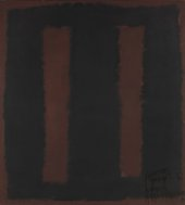 Mark Rothko Black on Maroon 1958 after vandalism of 7 October 2012
