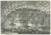 Muirhead Bone, Study for 'The Great Gantry, Charing Cross Station' 1906