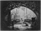 Joseph Pennell, Under the Bridges, Chicago 1910