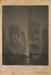 Joseph Pennell, Cortland Street Ferry 1908