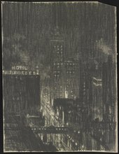 Joseph Pennell, Hotel Knickerbocker, Night Scene 1908–10