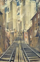C.R.W. Nevinson, The Soul of a Soulless City ('New York – an Abstraction') 1920